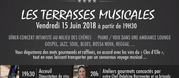 Soirée Les Terrasses Musicales - Disini - Vendredi 15 Juin 2018